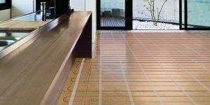 electrische vloerverwarming op houtvezel